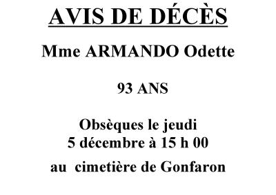 avis deces Armando