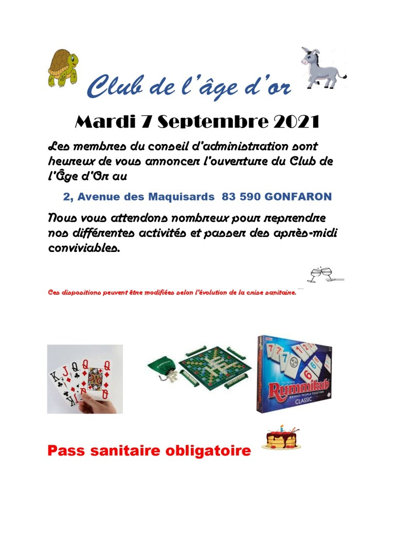 ouverture club age d'or