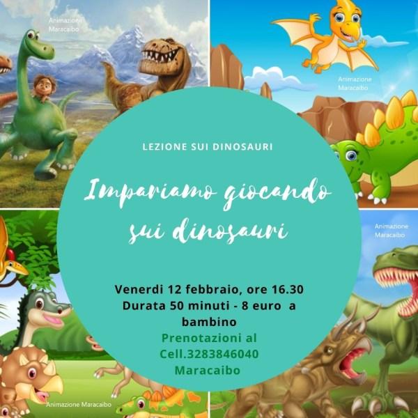 Laboratorio online Dinosauri Maracaibo eventi feste online laboratori didattici divertenti virtuali on line web r