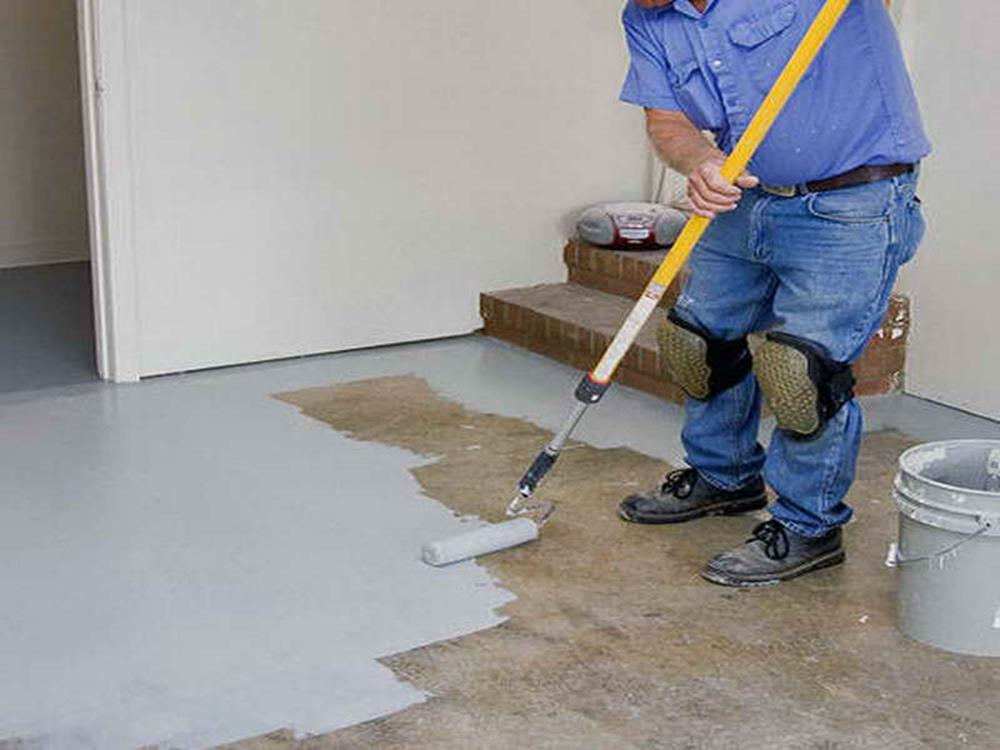 Basement Concrete Floor Paint Color Ideas 12