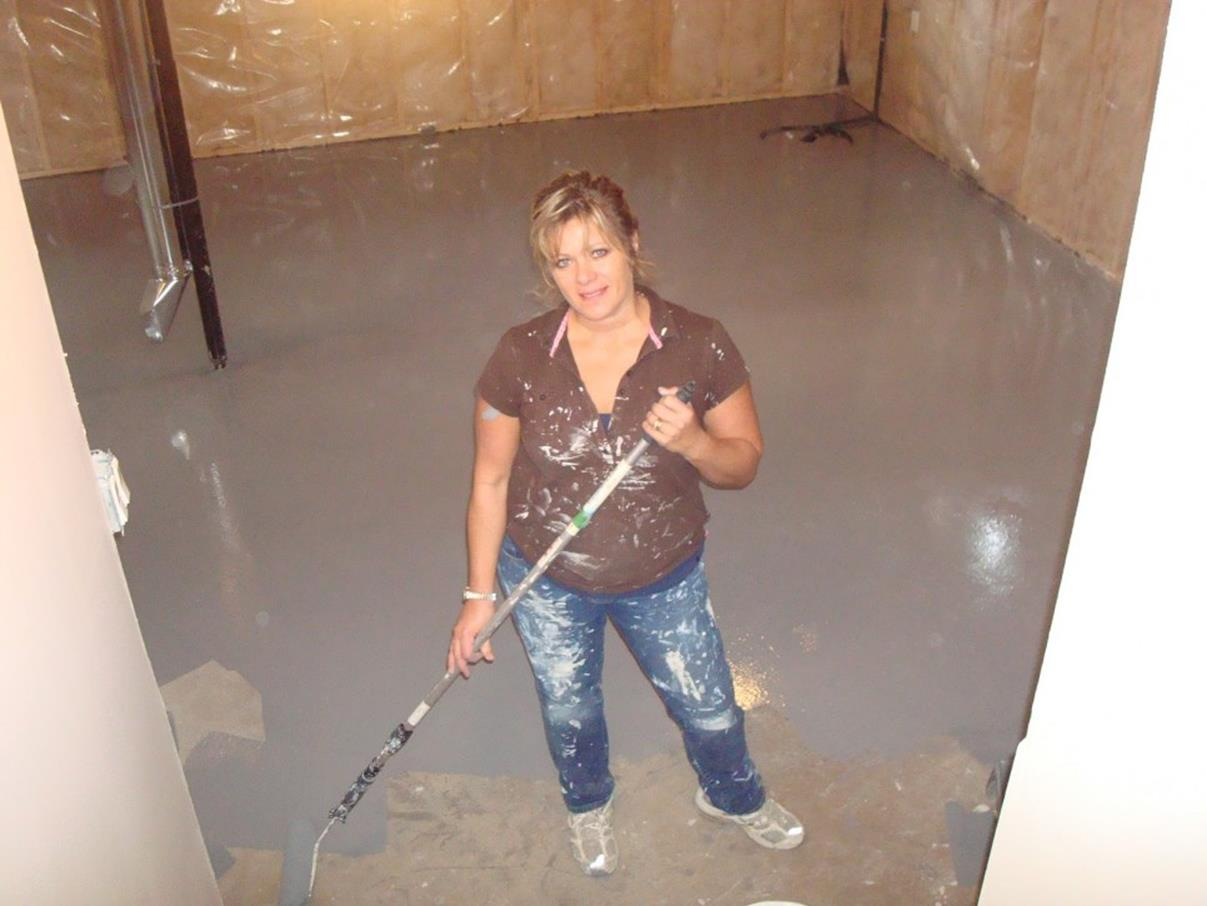 Basement Concrete Floor Paint Color Ideas 26