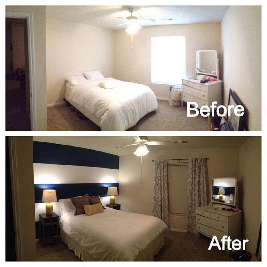 DIY Small Bedroom Makeover On a Budget 2