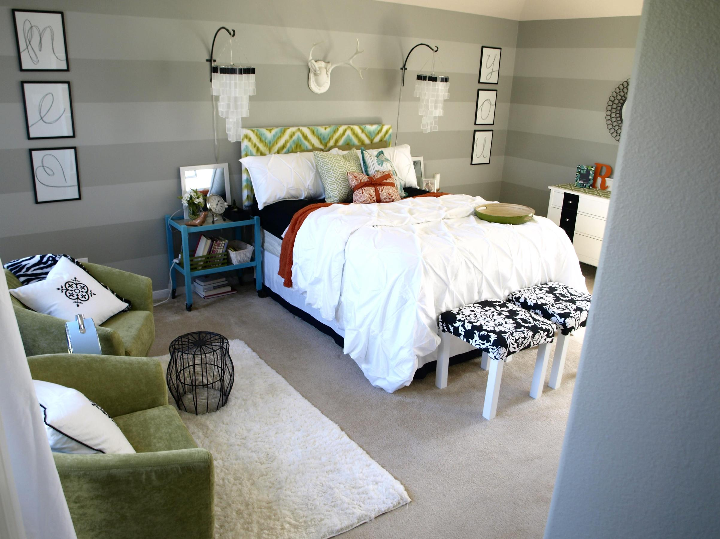 DIY Small Bedroom Makeover On a Budget 9