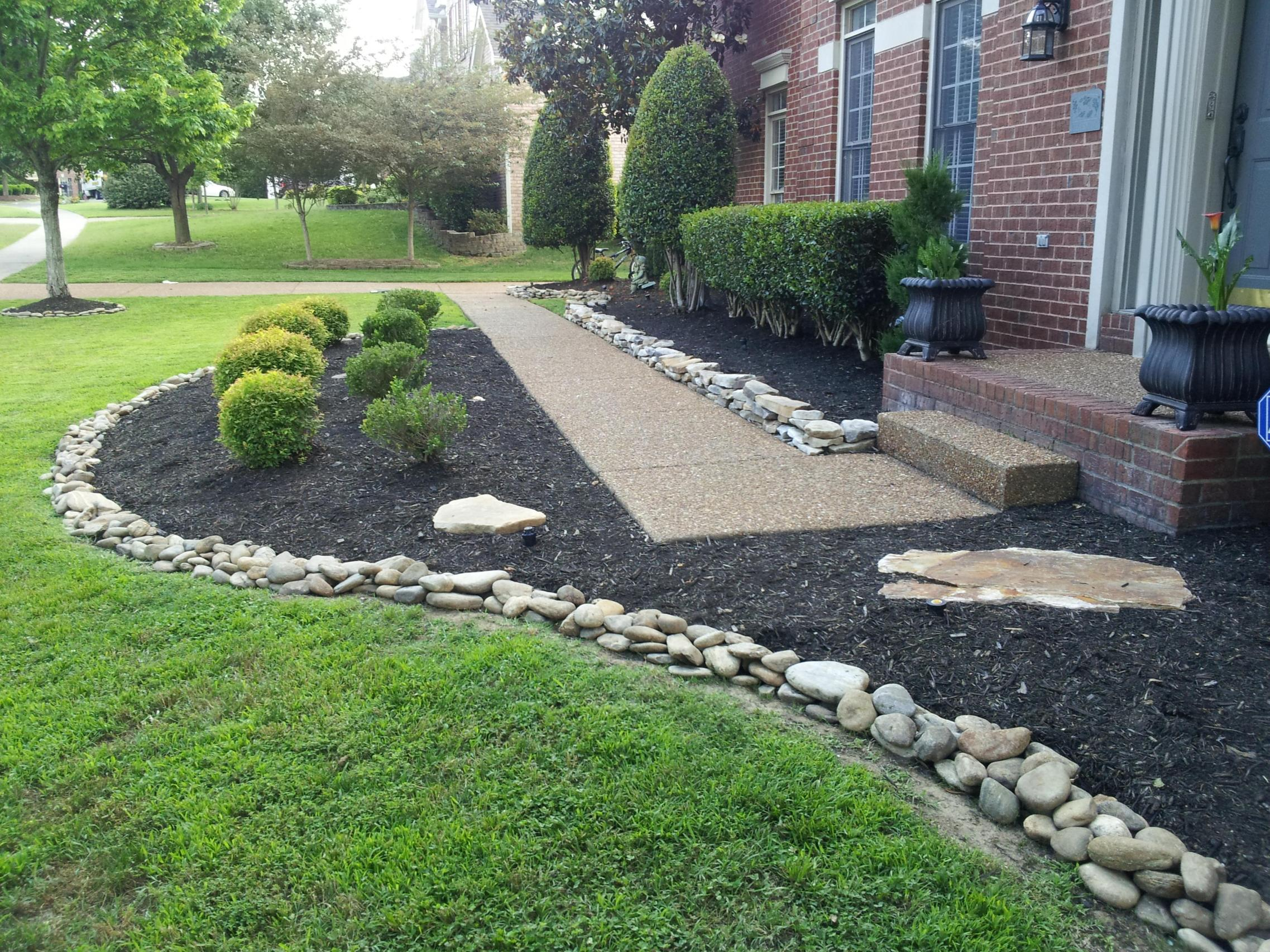 Landscaping Ideas With Rocks And Mulch 33