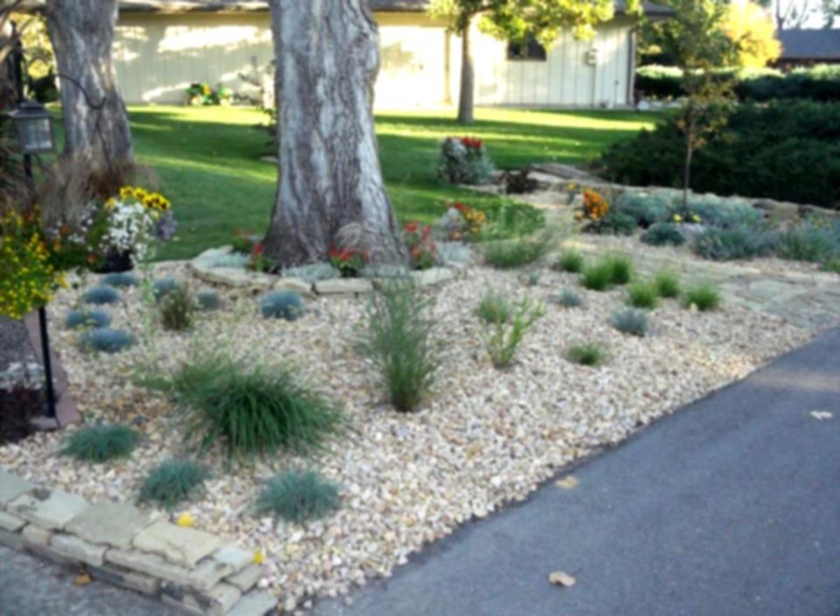 Landscaping Ideas With Rocks And Mulch 6