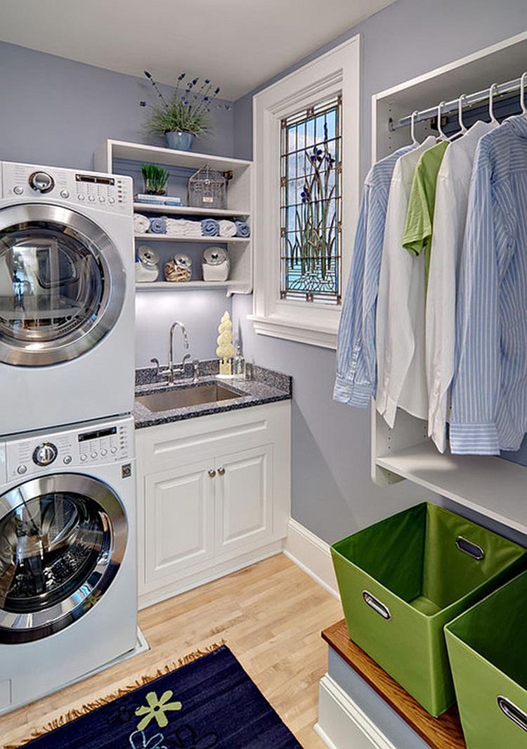 Laundry Room Hanging Rack Ideas 21