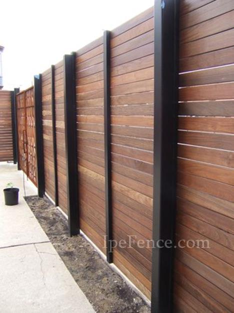 Modern Wood Fence Design Ideas 20