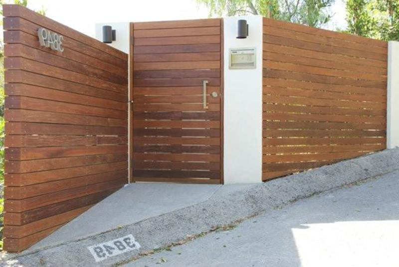 Modern Wood Fence Design Ideas 34