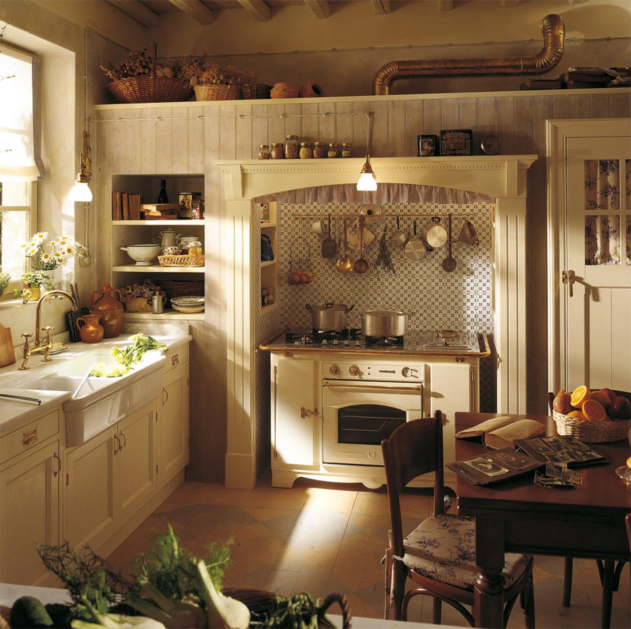 Small Country Kitchens Design and Decor Ideas 35