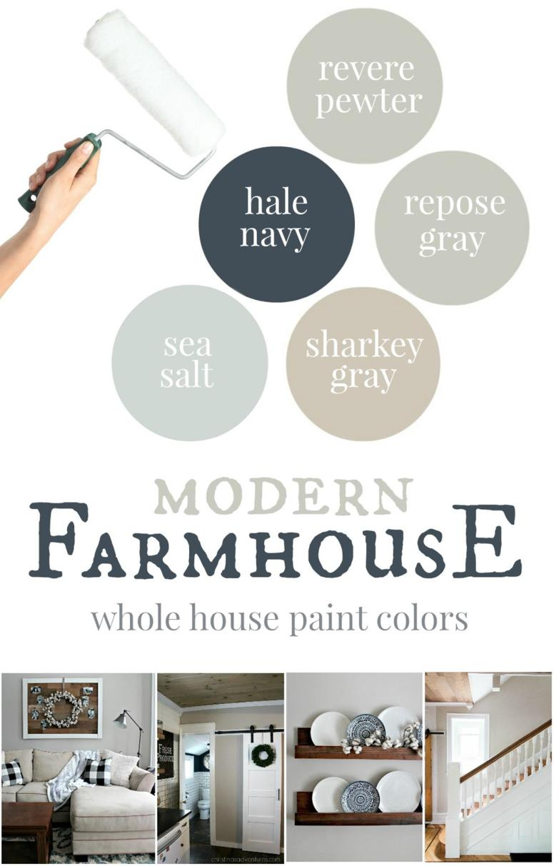 Traditional Farmhouse Interior and Exterior Colors Ideas 29