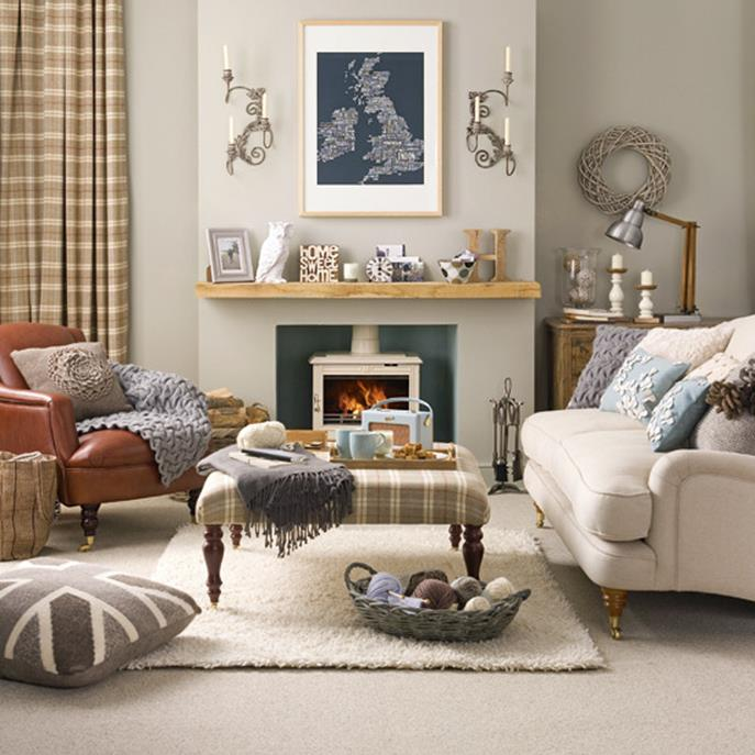 Country Style Living Room Decorating Ideas 1