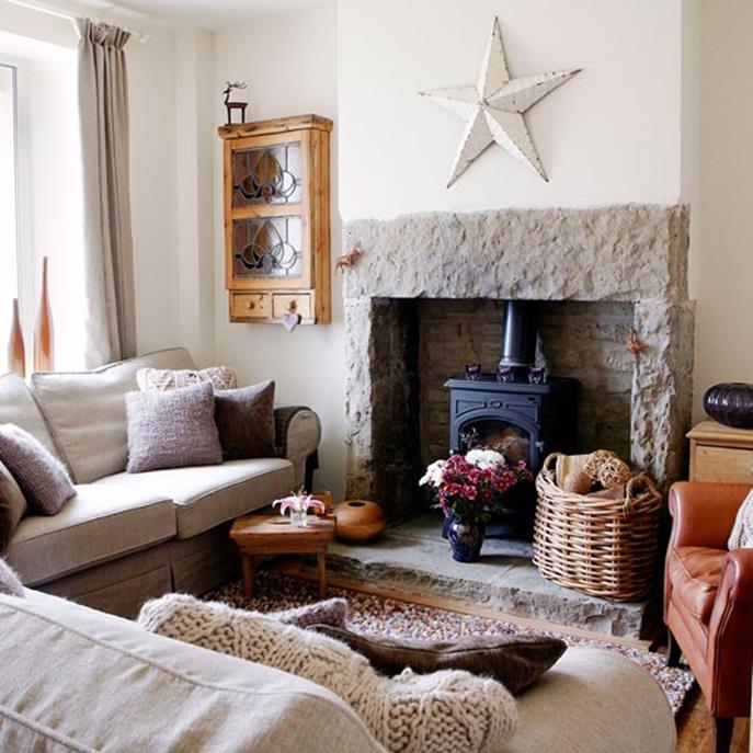 Country Style Living Room Decorating Ideas 17
