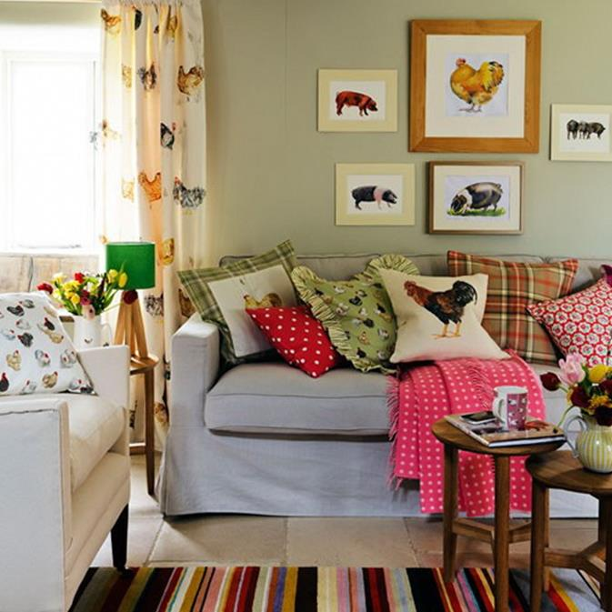 Country Style Living Room Decorating Ideas 4