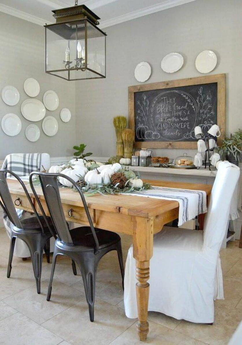 Farmhouse Dining Room Decorating Ideas 12