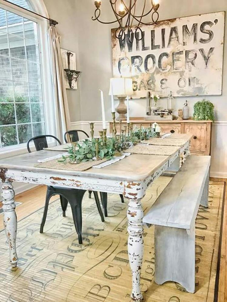 Farmhouse Dining Room Decorating Ideas 29