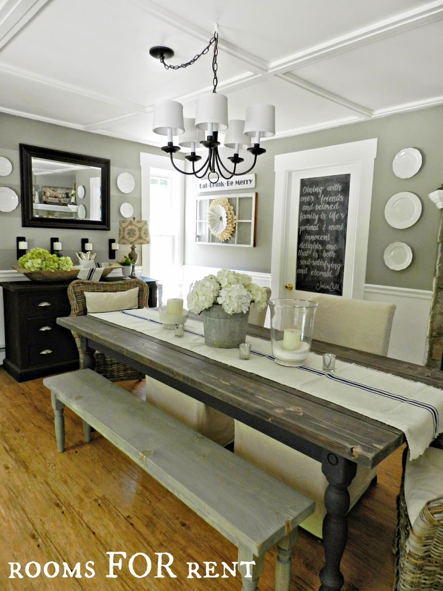 Farmhouse Dining Room Decorating Ideas 36