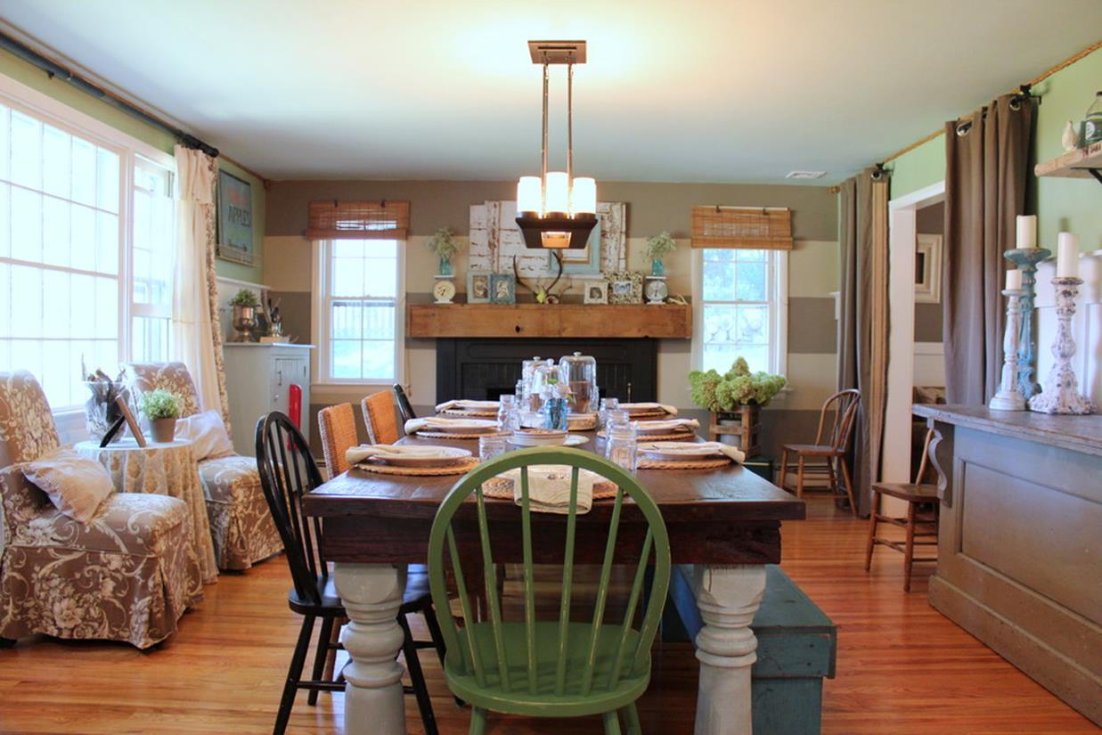 Farmhouse Dining Room Decorating Ideas 39