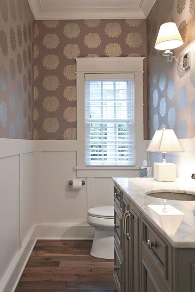 Gray Half Bathroom Decorating Ideas On A Budget 11