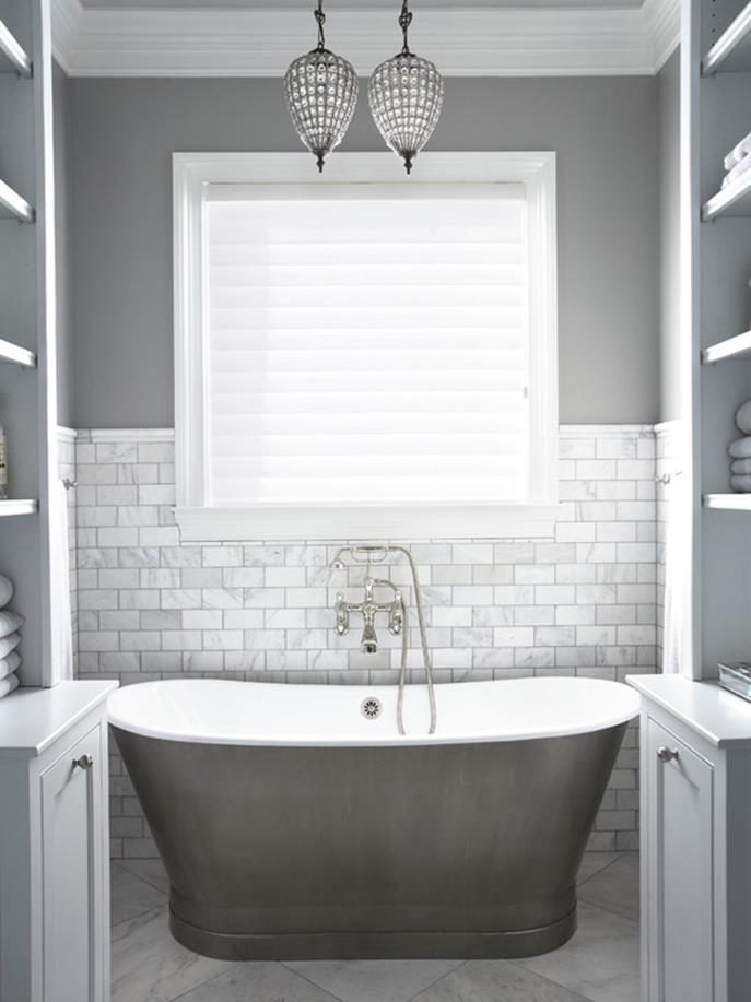 Gray Half Bathroom Decorating Ideas On A Budget 16