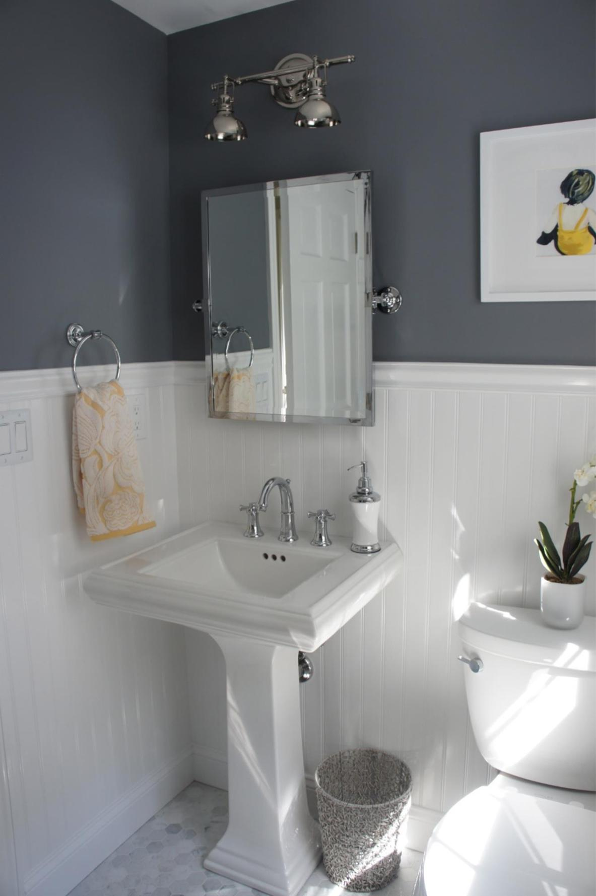 Gray Half Bathroom Decorating Ideas On A Budget 2