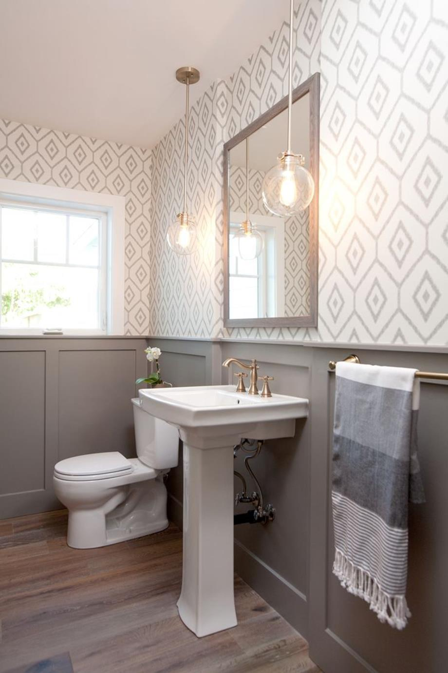Gray Half Bathroom Decorating Ideas On A Budget 29