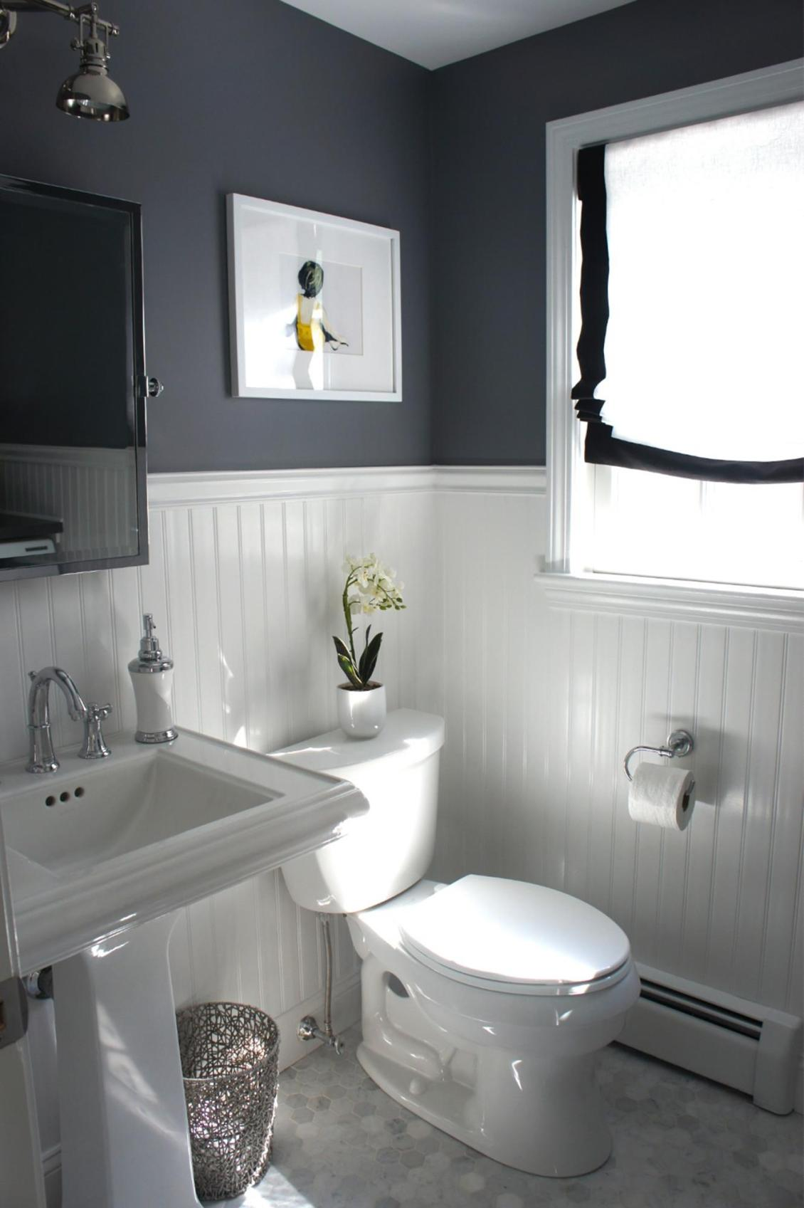 Gray Half Bathroom Decorating Ideas On A Budget 37