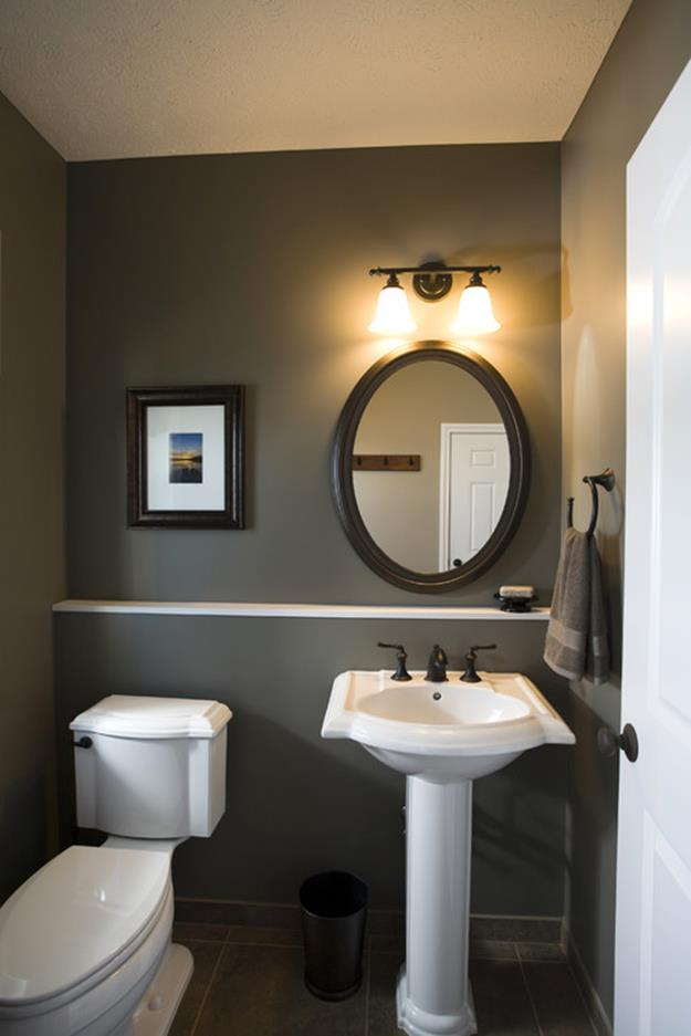 Gray Half Bathroom Decorating Ideas On A Budget 4