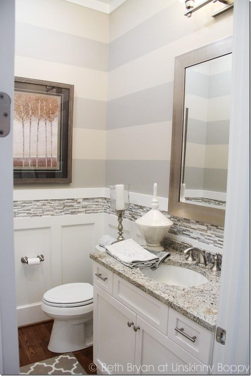 Gray Half Bathroom Decorating Ideas On A Budget 6
