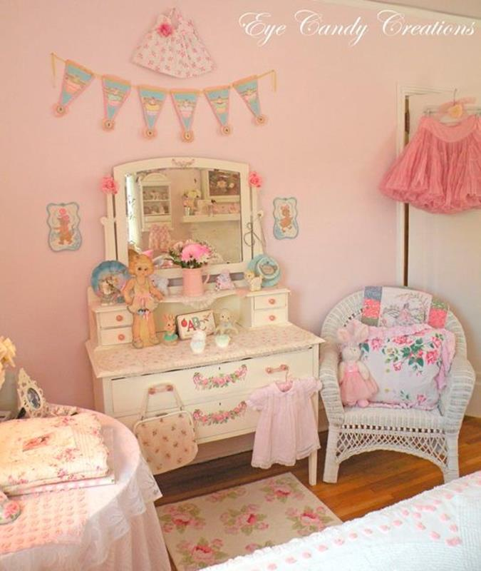 Vintage Girl Bedroom Decorating Ideas 4