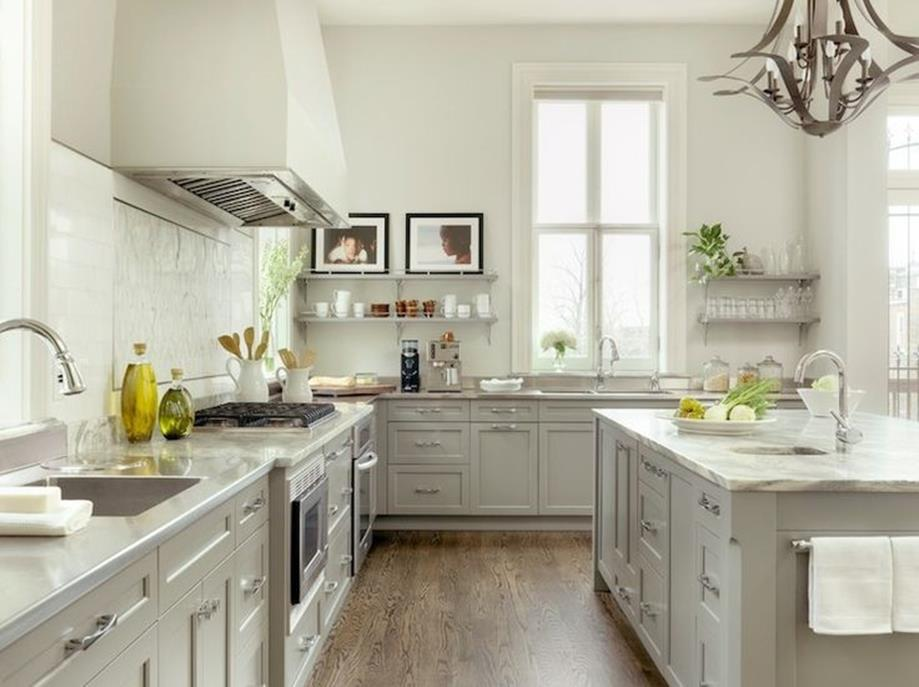 Light Grey Kitchen Cabinets Ideas 7