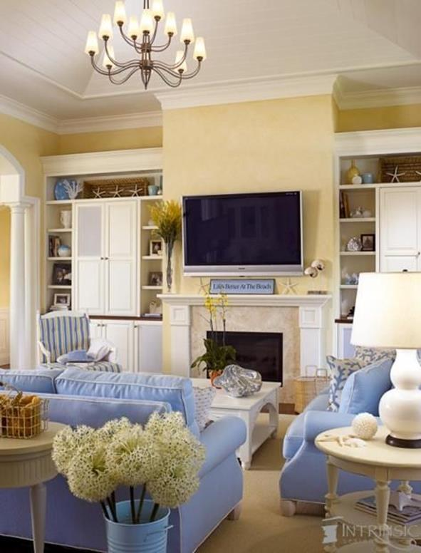 Yellow Cottage Living Room Decorating Ideas 15