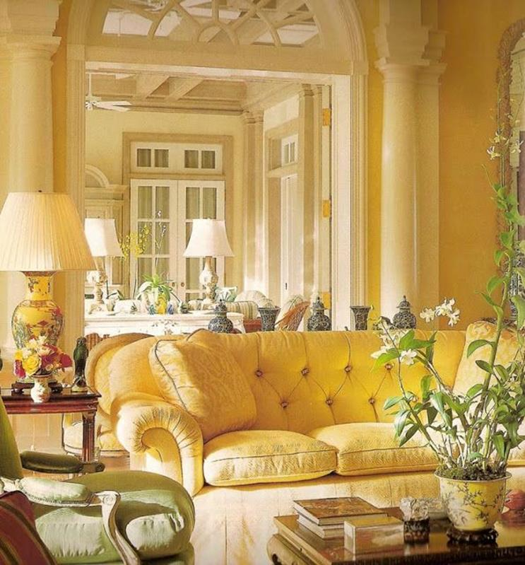 Yellow Cottage Living Room Decorating Ideas 20