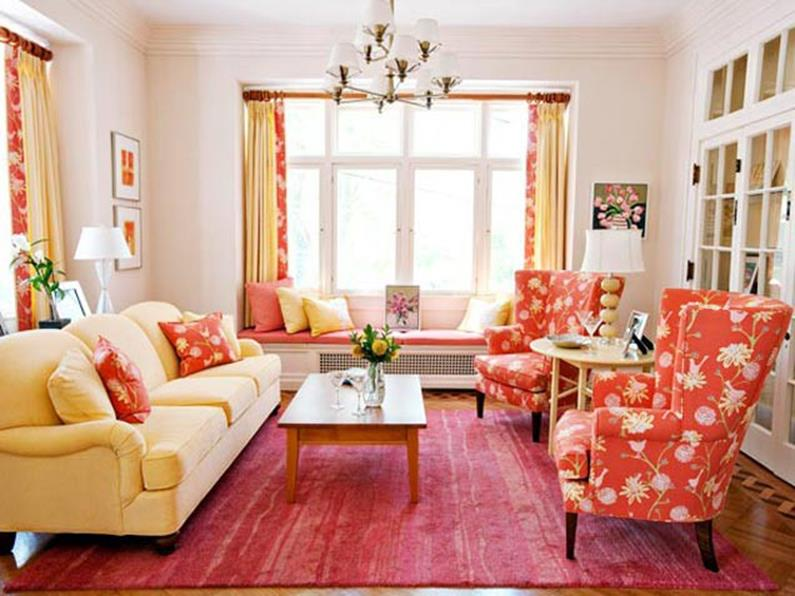 Yellow Cottage Living Room Decorating Ideas 24