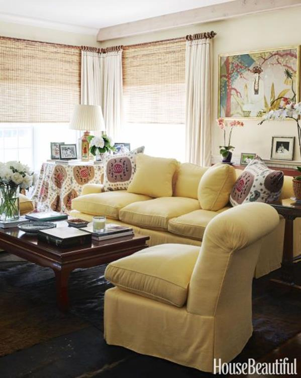 Yellow Cottage Living Room Decorating Ideas 5