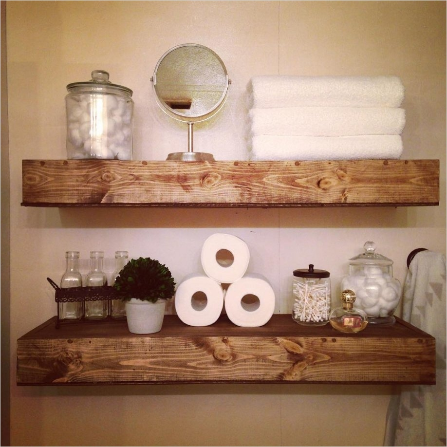 Bathroom Shelves Decorating Ideas 79 50 Unique Bathroom Shelf Decorating Ideas 6