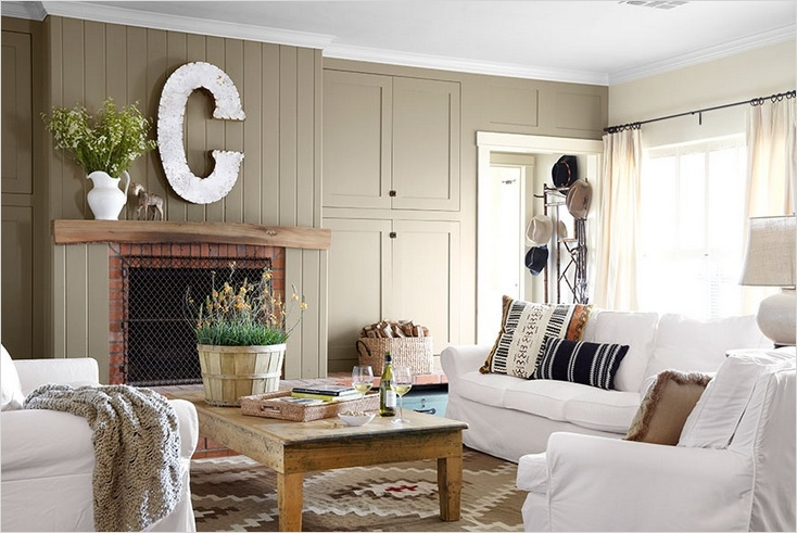 45 Amazing Ideas Country Chic Living Room 14 Brown Wall Plank In Country Chic Living Room 5