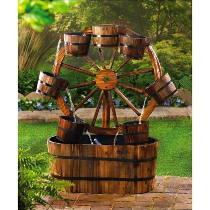 42 Amazing Ideas Country Garden Decor 22 Wagon Wheel Country Water Fountain Garden Decor New 2