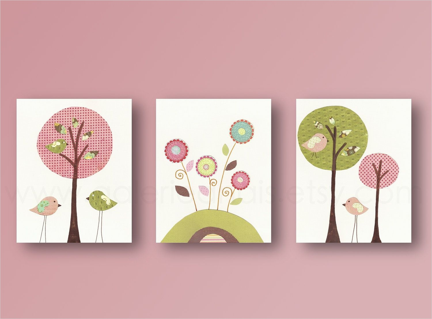 Craft Room Wall Decor 89 Baby Room Art Nursery Decor Birds Baby Nursery Wall Art Nursery Girl Room Tree Kids Art 8