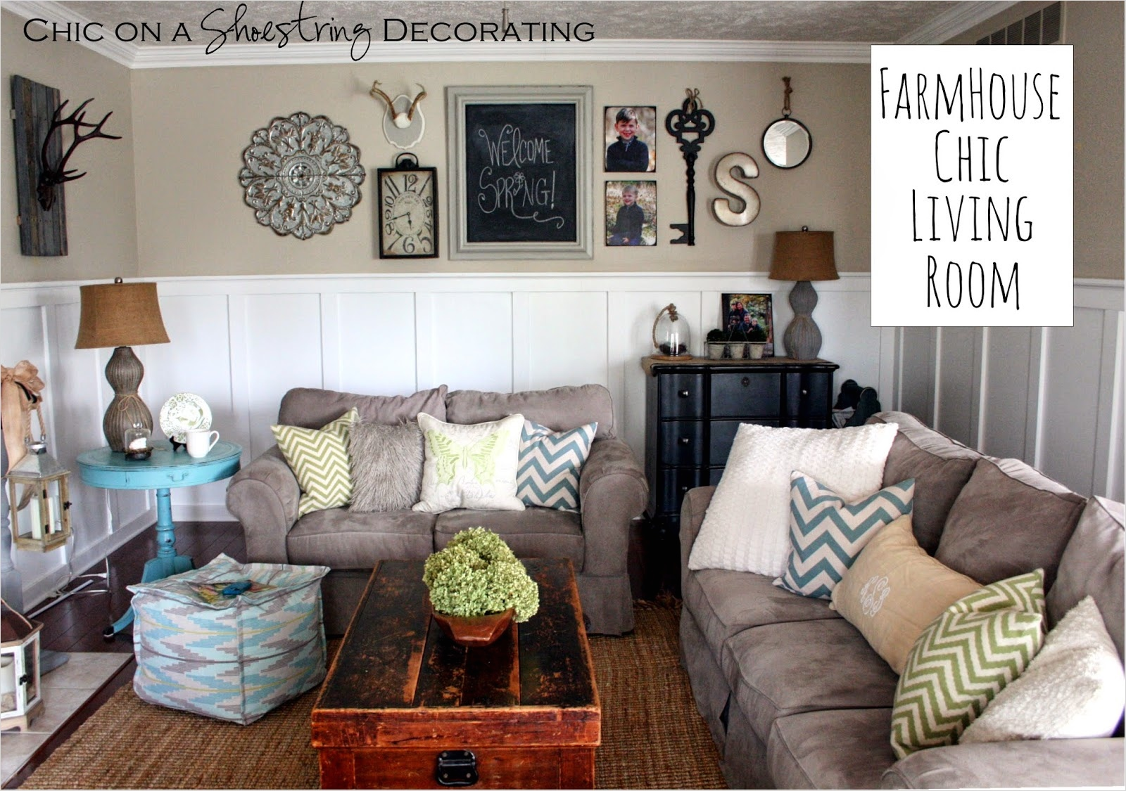 Farmhouse Chic Decorating Ideas 79 Chic On A Shoestring Decorating My Farmhouse Chic Living Room Reveal 9