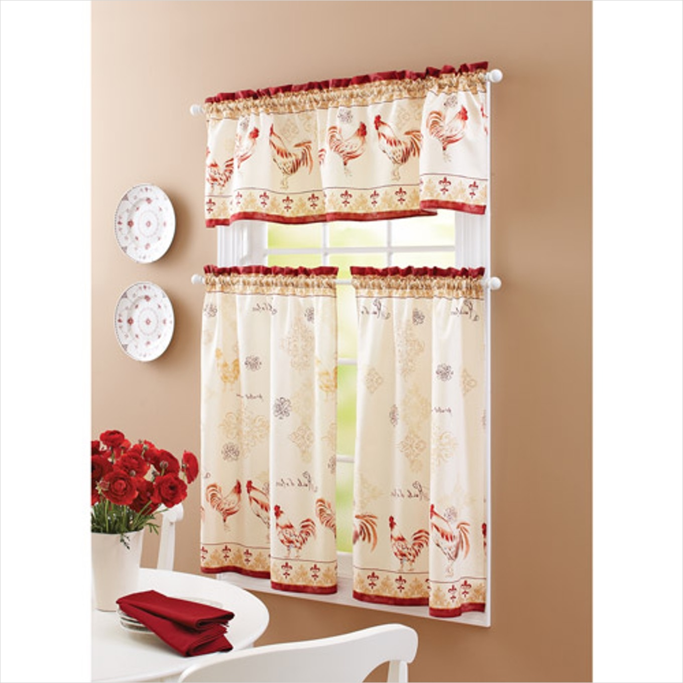41 Perfect Farmhouse Country Kitchen Curtain Valances 85 Farmhouse Style Curtains Country Swag Kitchen Valances for Windows About Country Style Kitchen 2