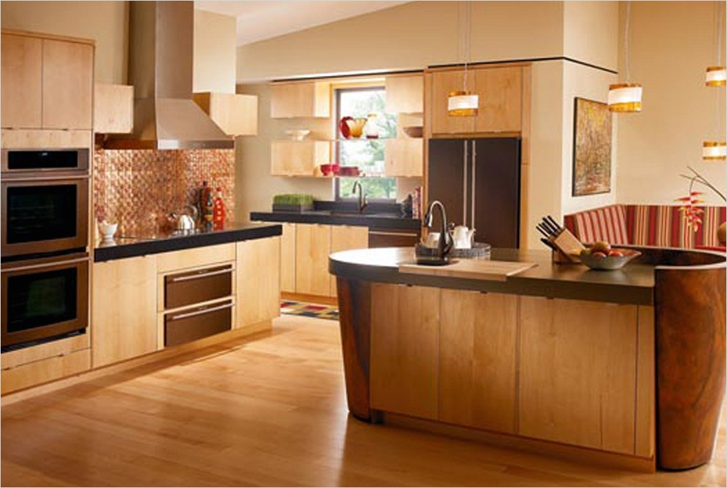kitchen with maple cabinets color ideas 17 - Gongetech on Maple Cabinets Kitchen Ideas  id=20903