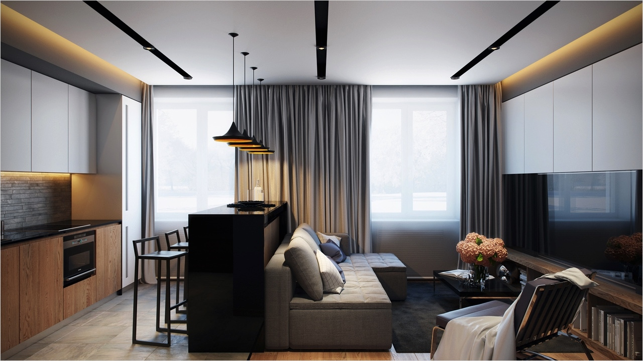 40 Perfect Modern Apartment Decor Ideas 92 Cozy White Black Wall with Glass Window and Contemporary Furniture as Contemporary Apartment 3