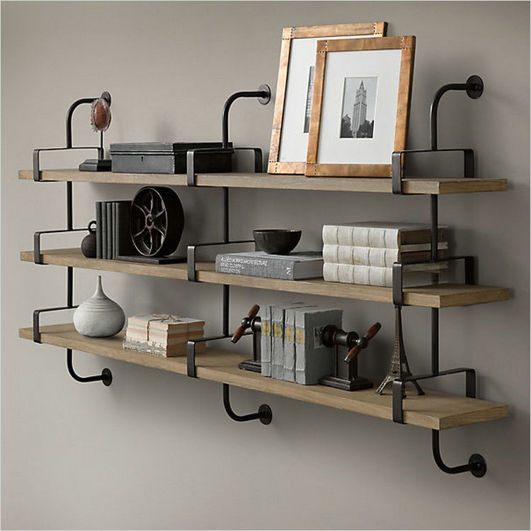 45 Creative Rustic Wall Mounted Bookshelves That Will Amaze You - Gongetech