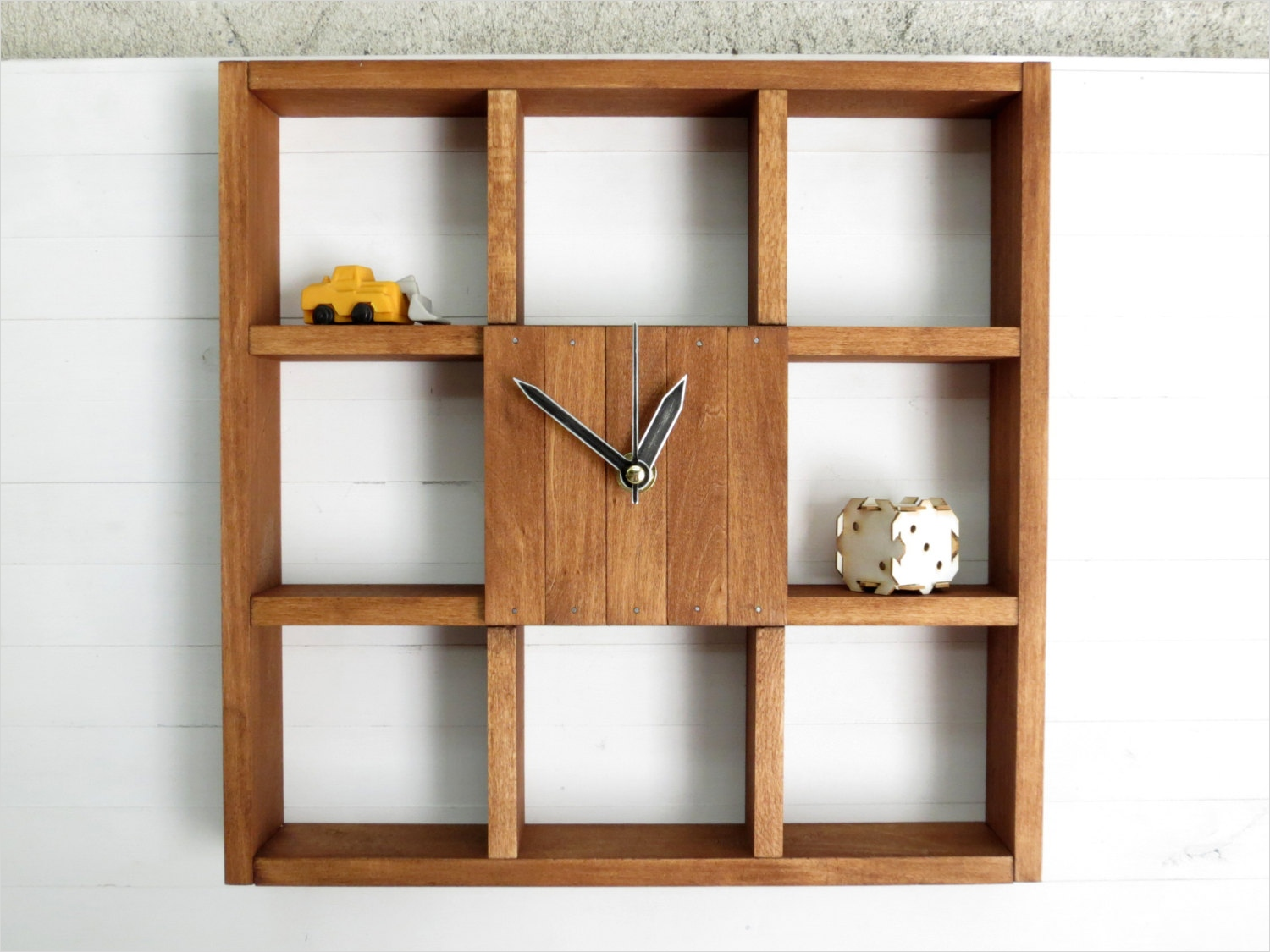 45 Creative Rustic Wall Mounted Bookshelves 63 Wall Clock Shadow Box Shelf Rustic Centerpiece Wall 4