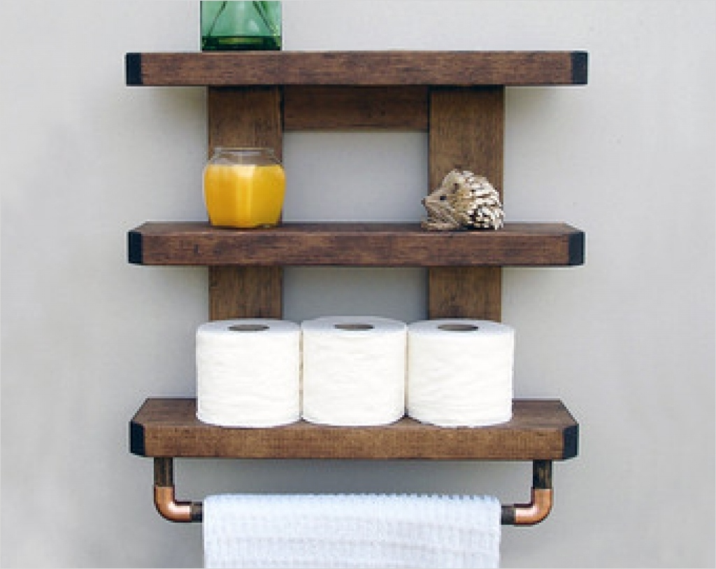 44 Creative Ideas Rustic Bathroom Walls Shelf 48 Wall Shelves Wood Shelves for Bathroom Wall Wooden Shelves for Bathroom Wall Wood Shelves for 1