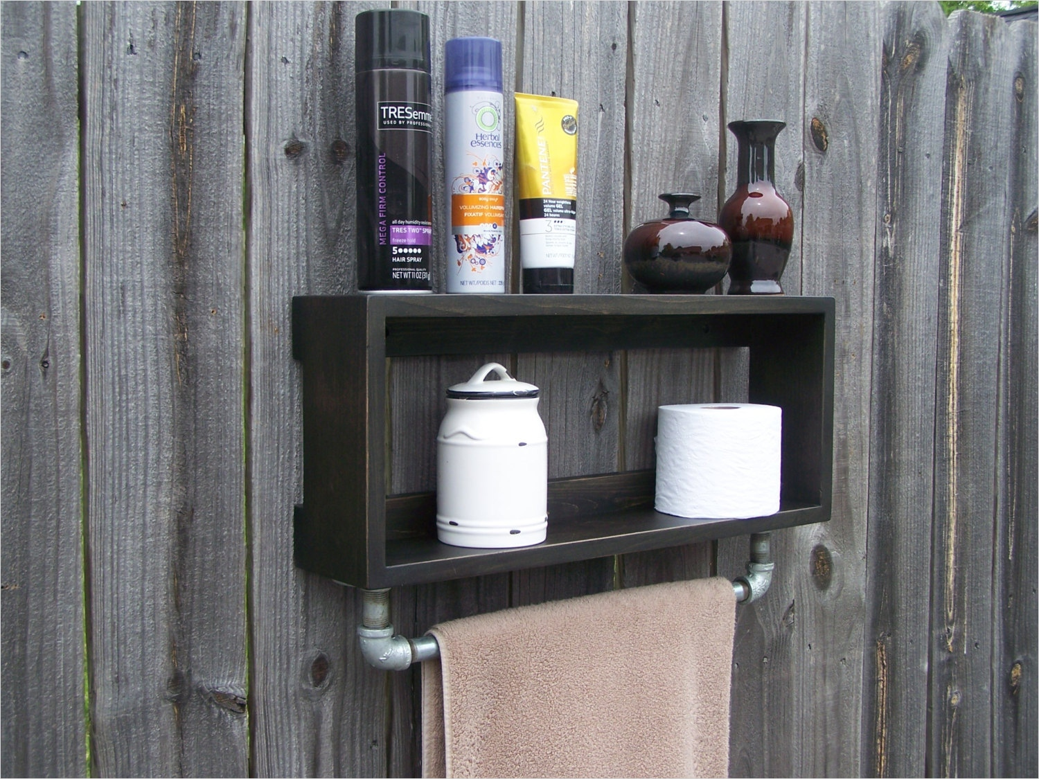 44 Creative Ideas Rustic Bathroom Walls Shelf 69 Industrial Rustic Bathroom Wall Shelf with 18 Inch Metal towel 5