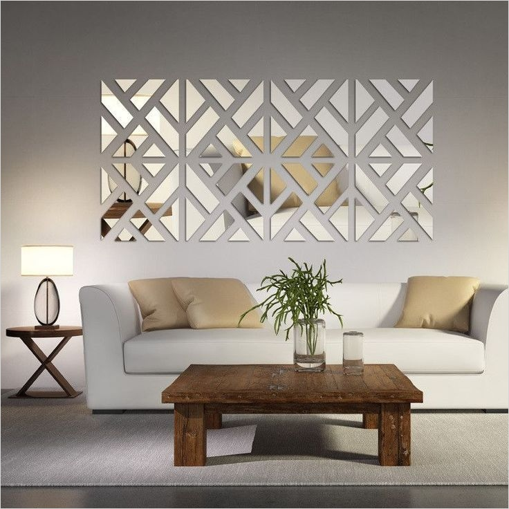 40 Creative Ideas Wall Decor for Living Room 33 Mirrored Chevron Print Wall Decoration 1