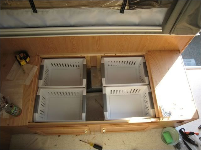 40 Diy Rv Camper Storage Ideas 42 Spring Break Mods and Maintenance Time Camping Pinterest 5