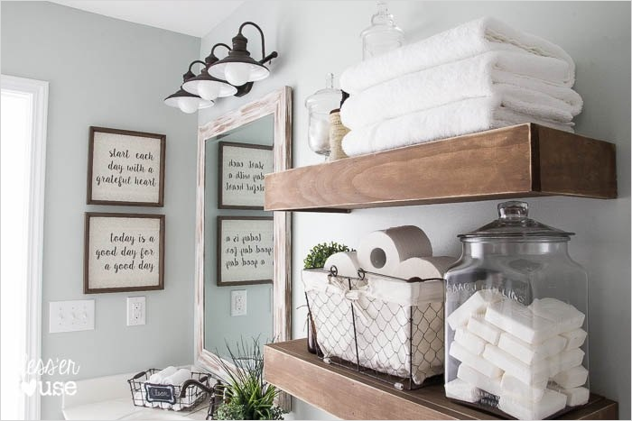 41 Beautiful Farmhouse Bathroom Accessories Ideas 62 Hometalk 4