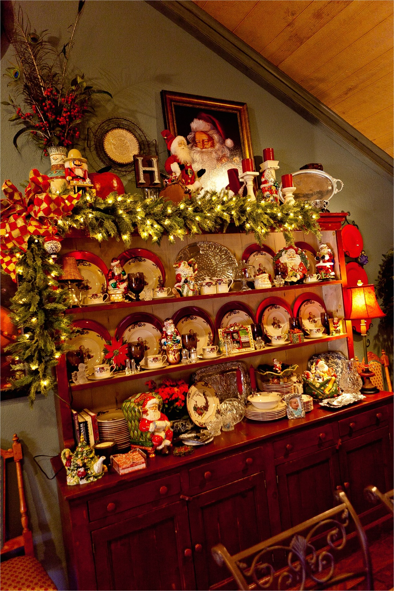 41 Amazing Country Christmas Decorating Ideas 76 Show Me More… Of A Country French Home Decorated for Christmas 8